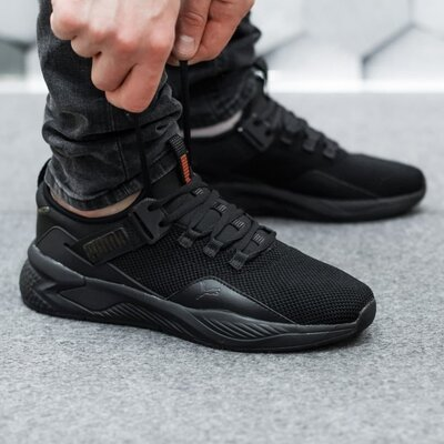 Мужские кроссовки Puma черные скидка 46 размер sale | чоловічі кросівки пума чорні знижка