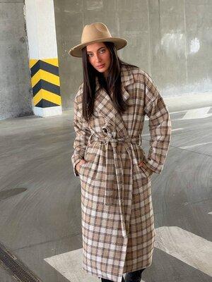 Пальто 2560 Размеры 42-46,48-52. Ткань шерсть, подкладка стеганная на синтепоновом утеплители плотно