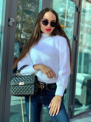 Свитер -12 цветов, теплый женский свитер, свитер oversize, зимний женский свитер арт 17018