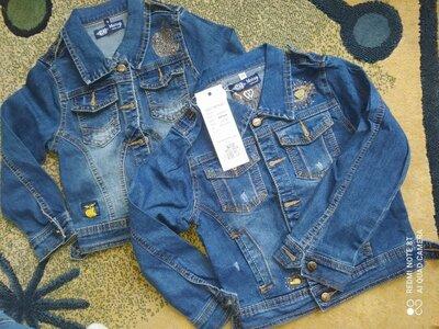 Куртка джинсова дитяча на 3-4,4-5,11-12років