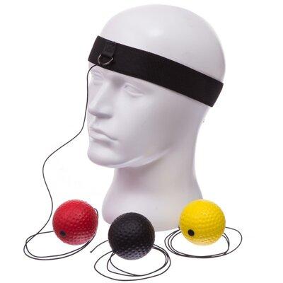 Тренажер для бокса с тремя мячами пневмотренажер Fight Ball 1659 теннисный мяч на резинке боксерский
