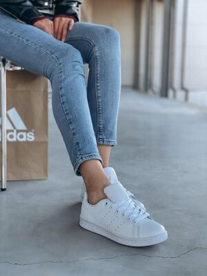 Женские кроссовки Adidas Stan Smith White   Распродажа.