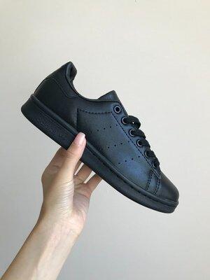 Женские кроссовки Adidas Stan Smith Black | Распродажа.