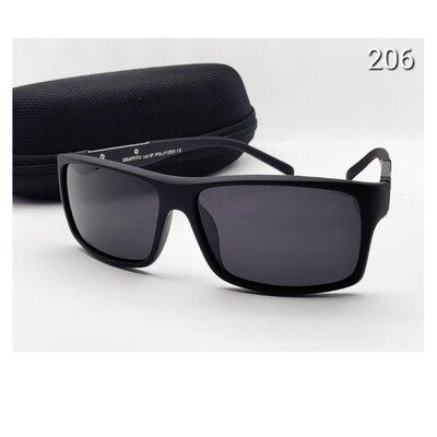 Мужские очки черная линза поляризацийна с футляром