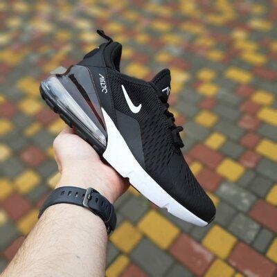 Мужские кроссовки Nike Air Max 270 черные с белым скидка 46 sale | чоловічі кросівки найк знижка