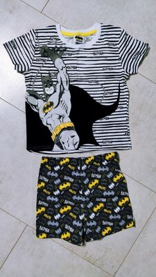 Хлопковая пижама на мальчика бэтмен