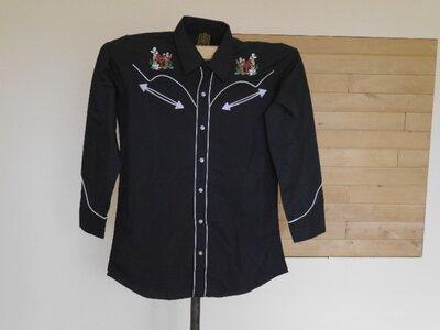 Рубашка з вишивкою на розмір 48-50 чорна