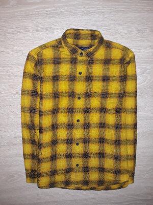 Яркая, тёплая рубашка Next на 8 лет