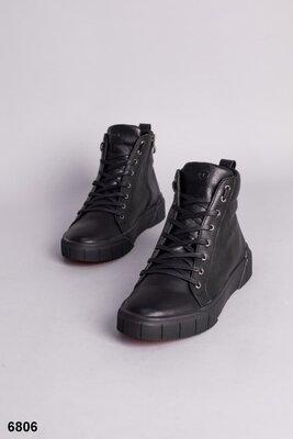 Мужские демисезонные осенние весенние ботинки сапоги кроссовки туфли закрытые оригинальные кожаные б