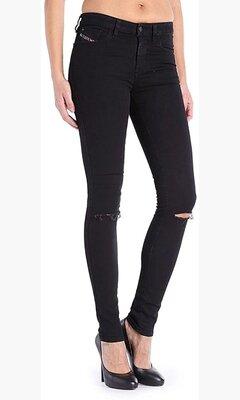 Новые джинсы скинни супер слим черные W28 L32 Diesel Skinzee 08E13