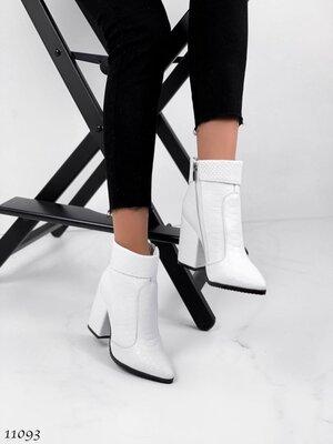 Женские натуральные замшевые кожаные демисезонные ботинки ботильоны на устойчивом каблуке