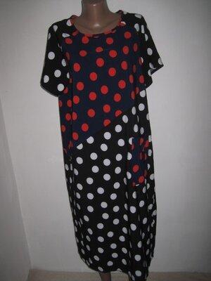 Яркое платье в горох Lucky style р-р14-16