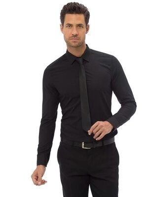 Черная мужская рубашка классическая LC Waikiki/ЛС Вайкики