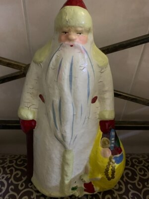 Продано: Игрушка ссср Дед Мороз папье-маше 33 см