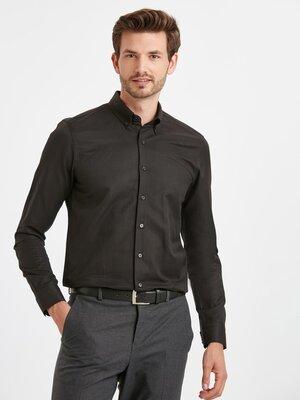 Черная мужская рубашка LC Waikiki/ЛС Вайкики в мелкий черный ромбик