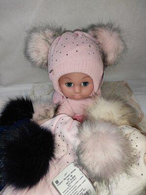 Шапка шарф зимний набор для малышей