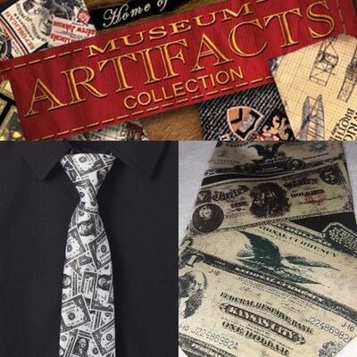 Шёлковый галстук Museum Artifacts hand made. USA
