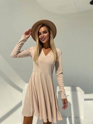 Стильное женское платье рубчик
