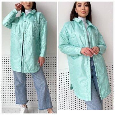 Мега скидка Р. 42 до 52.Куртка реплика Зара. Рубашка теплая курточкой на силиконе. Утепленная 50261