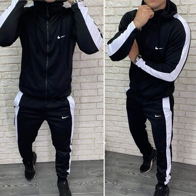 Cпортивный мужской котюм в стиле Nike , ткань Турецкий Эластик 50, 52, 54, 56