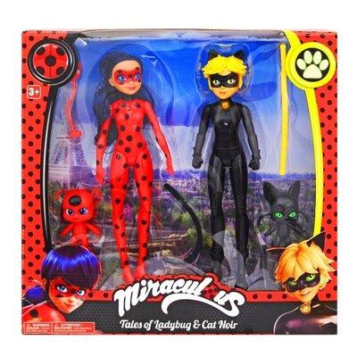 Детский набор фигурок Леди Баг и Супер Кот 28 см. Кукла 2 шт и питомец 2 шт.