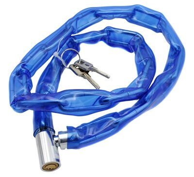 Велозамок цепь 100 см под ключ