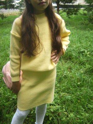 Вязанные костюмы свитер юбка для девочек