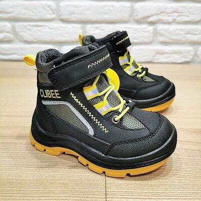 Деми ботинки Clibee P536by черные р.21-26. Большемерят