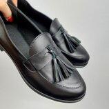 Туфли-Лоферы женские,натуральная кожа