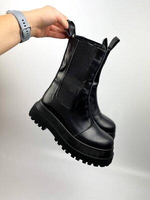 Продано: Ботинки женские, натуральная кожа, байка