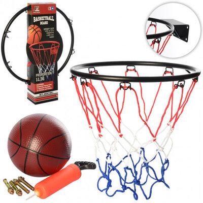 Баскетбольное кольцо MR 0167 с креплениями и баскетбольным мячом