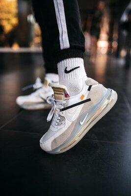 Мужские кроссовки Nike Off-White New Grey скидка 44 sale   чоловічі кросівки найк знижка