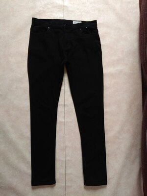 Мужские черные брендовые джинсы скинни Denim co, 33 pазмер.