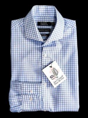 Шикарная брендовая рубашка в клетку GALERIES LAFAYETTE Вьетнам коттон этикетка