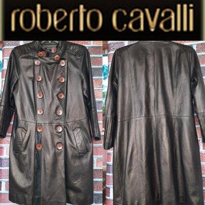 Кожанный тренч Roberto Cavalli p.4XL Италия