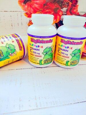 Витамин С для детей, жевательные витамины