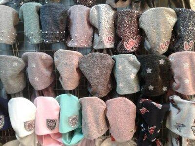 Осенние шапки и комплекты для девочек, объем головы 48 - 56 см