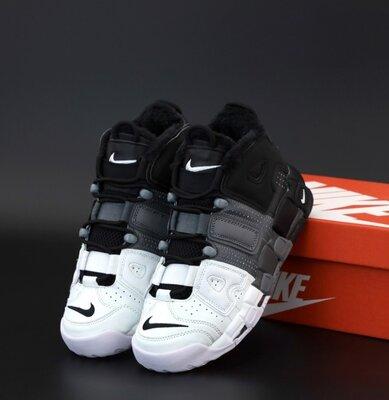 Зимові чоловічі кросівки Nike Air More Uptempo 40-45 Хутро