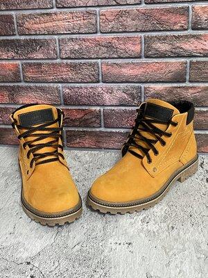 Мужские кожаные ботинки ST из натуральных материалов