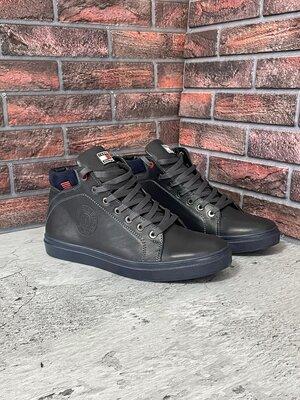 Продано: Мужские зимние ботинки Status из натуральных материалов
