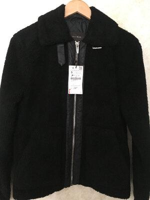 Стильная куртка дубленка тедди zara размер s