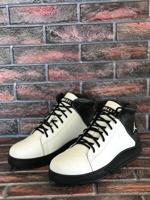 Мужские кожаные ботинки Jordan в разных цветах