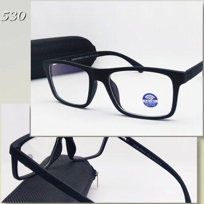 Мужские компьютерные очки с футляром матовые флекс дужки