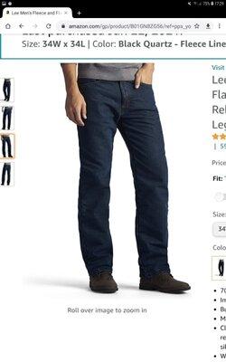 Утепленные джинсы Lee, оригинал.