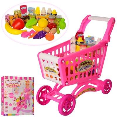 Игрушечная тележка с продуктами 56 деталей, магазин игровой, игрушечные продукты.