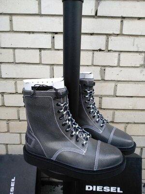 Ботинки кожаные итальянского бренда diesel d cage dbb италия европа оригинал