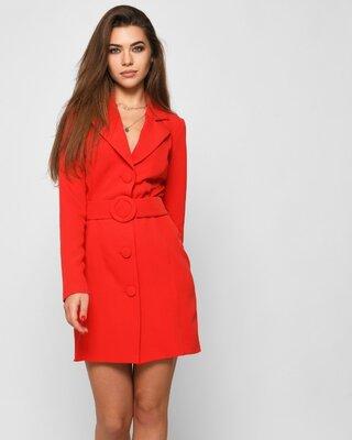 Женское платье-жакет красное   51132