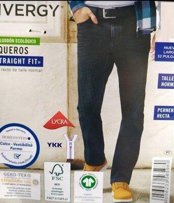 Плотные качественные мужские джинсы straight fit Livergy Германия