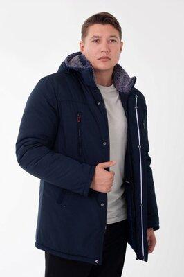 мужская зимняя куртка на меху теплая