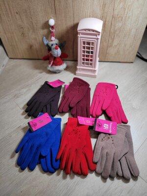 Перчатки для девочек трикотаж